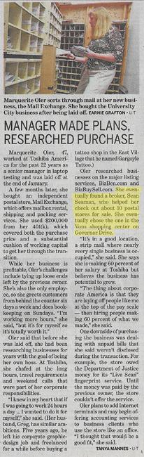 Union Tribune Article